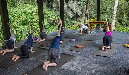 Royal Kirana Spa yoga class
